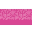 Pink lace hearts textile texture horizontal vector image vector image