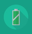 Technology Flat Icon Battery vector image vector image