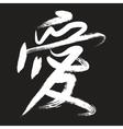 japanese handwriting vector image