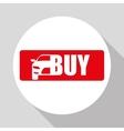 Car sale design sale concept white background vector image