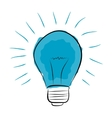 blue light bulb hand drawn vector image