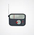 cartoon theme radio vector image