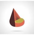 Cone soft seat flat color design icon vector image