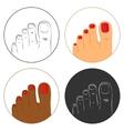 Pedicure and bodycare concept Icon set vector image