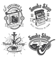 Set of vintage tobacco smoking emblems vector image