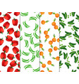 vegetarian healthy food vegetables collection vector image