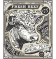 Vintage Beef Advertising Page vector image