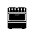 Stove icon Flat design vector image