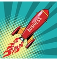 business startup rocket vector image