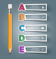 business alphabet infographics pen icon vector image