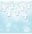 Christmas Background - Angels vector image vector image