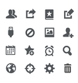 Communication Icons - Apps Interface vector image vector image