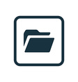 folder icon Rounded squares button vector image