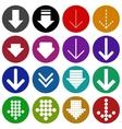 Arrow sign icon set- vector image vector image