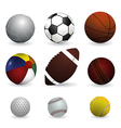 Set of sport balls on white background vector image