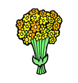comic cartoon flowers vector image vector image