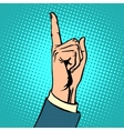 Attention gesture thumbs up vector image