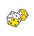 Dice game logo Casino logotype icon vector image