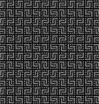 Geometric black seamless pattern vector image
