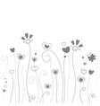 grass pattern valentine day vector image