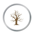 Old tree icon in cartoon style for web vector image