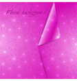pink abstract floral background vector image