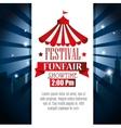 poster festival funfair showtime vector image