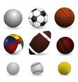 Set of sport balls on white background vector image