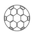 soccer sport ball equipment icon vector image