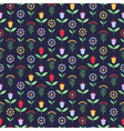 Bright seamless pattern with flowers and berries vector image