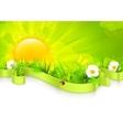 Landscape background vector image vector image
