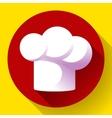 Pure white restaurant chef hat vector image