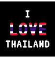 I love Thailand12 vector image