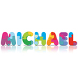 MICHAEL written with alphabet puzzle vector image