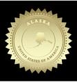 Gold star label Alaska vector image vector image