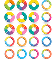 Set of Different arrow circles isolated vector image
