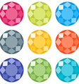 Flat gems icons set vector image