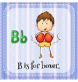 Alphabet B is for boxer vector image vector image