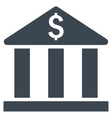Bank Building Flat Icon vector image