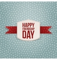 Friendship Day Holiday paper Badge vector image