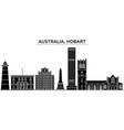 australia hobart architecture city skyline vector image