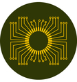 Circuit board element vector image