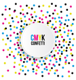 Colorful Party Background with Confetti vector image