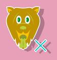 cute funny cartoon dog puppy pet furry human vector image