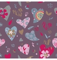 heart sweet love day pattern vector image