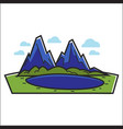 lake in mountains vector image