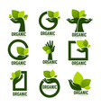 nature product logo set ecological symbol and vector image