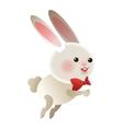 rabbit cartoon icon vector image