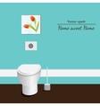 Toilet 3d Blue background vector image
