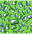 video player seamless pattern vector image